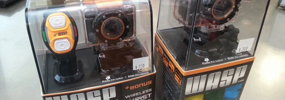 Wasp sports and action cameras in stock!